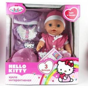 Пупс  Hello Kitty розовый костюмчик 30 см Карапуз