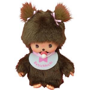 Мягкая игрушка  Бэбичичи, девочка в розовом слюнявчике, 15 см Monchhichi