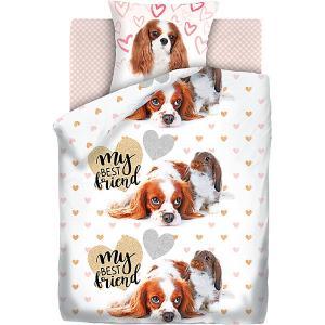 Детское постельное белье 1,5 сп 4 YOU Puppy and Bunny 4YOU. Цвет: белый