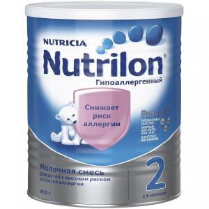 Молочная смесь  2 Гипоаллергенный с 6 месяцев, 400 г Nutrilon