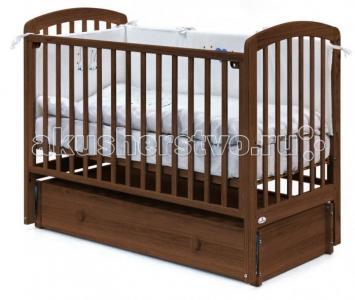 Детская кроватка  Tina продольный маятник 120х60 см Fiorellino