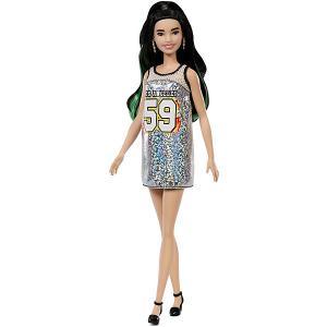 Кукла Barbie Игра с модой в блестящем сарафане-майке, 29 см Mattel