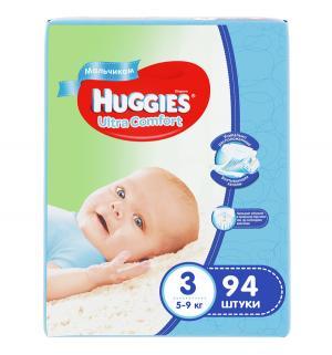 Подгузники  Ultra Comfort Giga 3 для мальчиков (5-9 кг) 94 шт. Huggies