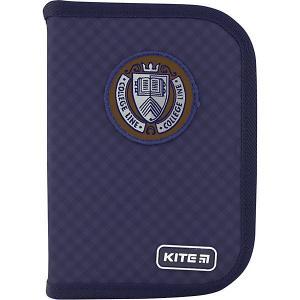 Пенал  College line b, без наполнения Kite. Цвет: темно-синий
