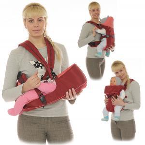 Рюкзак-кенгуру Чудо-Чадо BabyActive Simple, цвет: бордовый