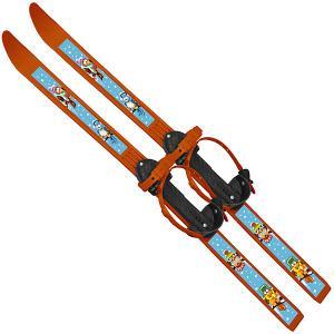 Лыжи с палками Вираж-спорт Птицы 100/100 см Цикл. Цвет: оранжевый