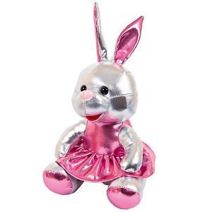Мягкая игрушка  Металлик Зайка, 16 см ABtoys. Цвет: серый