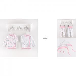 Комплект на выписку  Распашонки Fiore с ползунками и чепчиками Sweet Baby