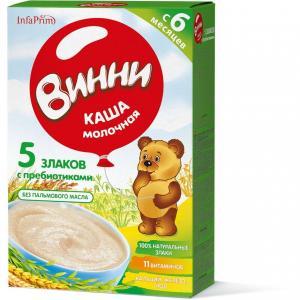 Каша  молочная 5 злаков с 6 месяцев 200 г Винни