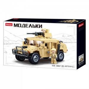 Конструктор  Военный джип (265 деталей) Sluban
