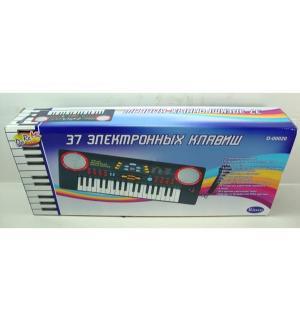 Дореми Синтезатор 37 клавиш с микрофоном черный Abtoys