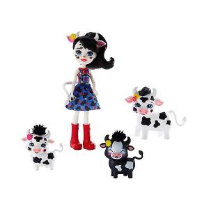 Игровой набор Enchantimals Кукла Кэмбри Коровка и Рикотта, Мак, Чиз Mattel. Цвет: разноцветный