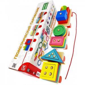 Деревянная игрушка  Геометрический паровозик Анданте