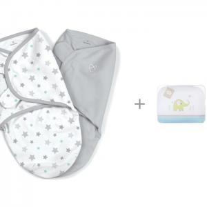 Пеленка  Swaddleme Конверт для пеленания на липучке и Комплект в кроватку Perina Джунгли Summer Infant