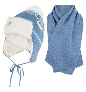 Комплект шапка/шарф  Jasper синий Ewa