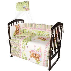 Комплект в кроватку  Мишка, 7 предметов Ifratti. Цвет: разноцветный