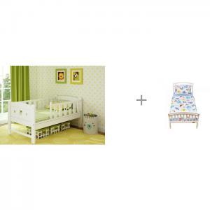 Подростковая кровать  Dream 160x80 см и Постельное белье Shapito School Giovanni
