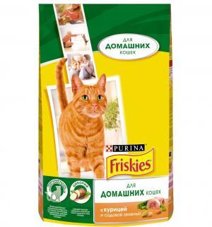 Сухой корм  для взрослых кошек, курица/садовая зелень, 1.5кг Friskies