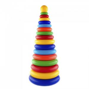 Развивающая игрушка  Пирамида Супергигант 49 см Пластмастер