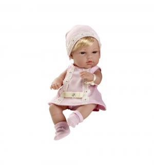 Кукла  Пупс блондинка в розовом платье со стразами Swarowski 33 см Arias
