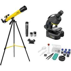 Набор  National Geographic Телескоп 45/600 AZ и микроскоп 40–460x Bresser. Цвет: черный/желтый