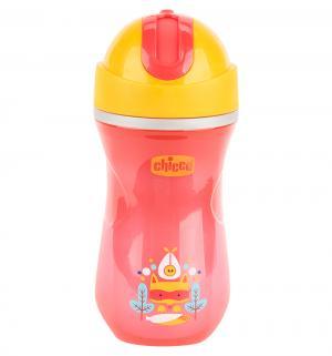 Чашка-поильник  Sport Cup с трубочкой, цвет: красный Chicco