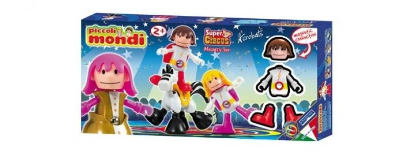 Конструктор  Piccoli Mondi Super Circus Acrobats Plastwood