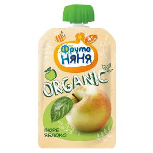 Пюре  Organic яблоко, с 4 месяцев, 90 г ФрутоНяня