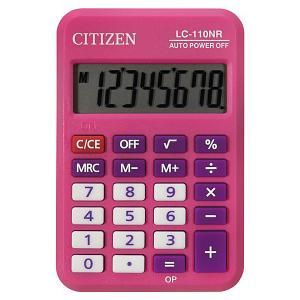 Калькулятор карманный  LC-110NR-PK Citizen. Цвет: розовый