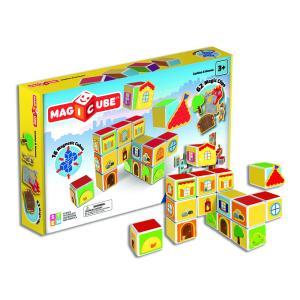 Магнитный конструктор  MagiCube Замки и дома, 78 деталей Geomag