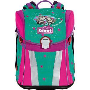 Ранец  Sunny Зеленое лето с наполнением Scout. Цвет: зеленый/розовый