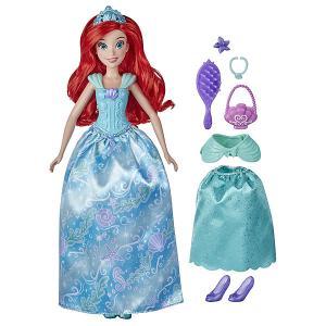 Кукла Disney Princess Ариэль в платье с кармашками Hasbro. Цвет: разноцветный