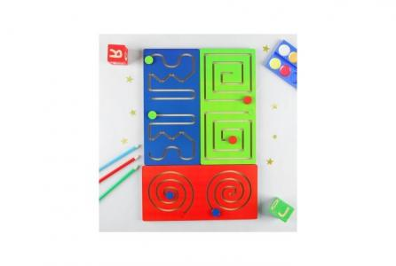 Деревянная игрушка  Лабиринт Полушарные доски Фабрика Мастер игрушек