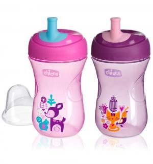 Чашка-поильник  Advanced Cup с трубочкой, цвет: розовый/сиреневый Chicco