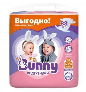 Подгузники  с канальцами Maxi (8-14 кг) 88 шт. My Bunny