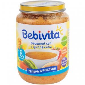 Суп  Овощной с цыпленком, 190 г Bebivita