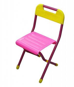 Стул детский складной  №2, цвет:розовый Дэми