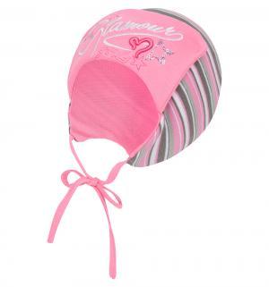 Шапка , цвет: серый/розовый Fido