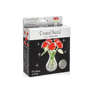 3D головоломка Букет в вазе Crystal Puzzle