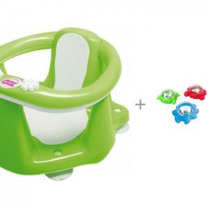Сиденье в ванну Flipper Evolution и игрушки для ванной Playgo Мерцающие поплавки Ok Baby