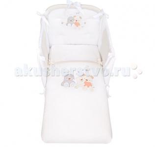 Комплект в кроватку  Spring (3 предмета) с вышивкой Picci