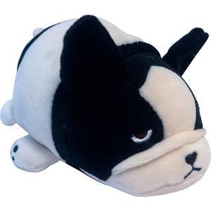 Мягкая игрушка  Собачка розовая с черным, 13 см ABtoys. Цвет: черный/розовый