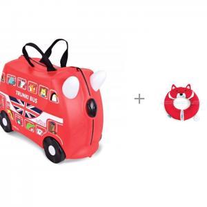 Детский чемодан на колесах Автобус с подголовником Yondi Trunki