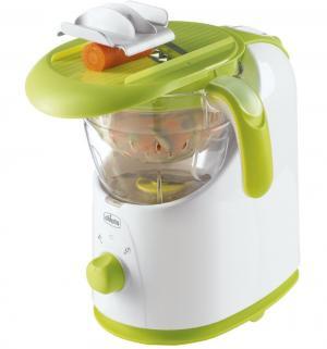 Пароварка-блендер 3в1 Easy Meal , цвет: белый/зеленый Chicco