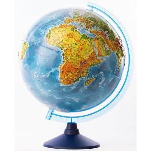 Глобус Земли  физико-политический рельефный с подсветкой, 320мм Globen. Цвет: разноцветный