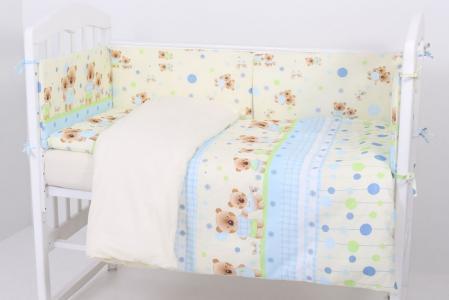 Комплект в кроватку  Дружная Семейка (6 предметов) Топотушки