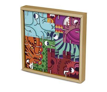 Игрушки из картона: 3D пазл - головоломка Сафари Krooom