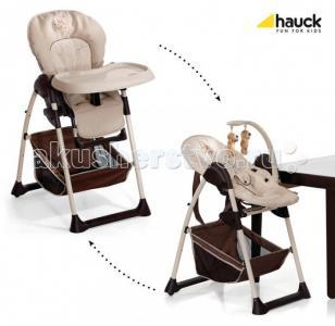 Стульчик для кормления  Sitn Relax + шезлонг новорожденного Hauck