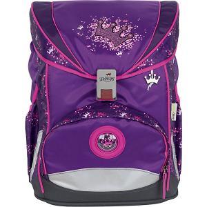Ранец с наполнением  Ergoflex Фиолетовая корона DerDieDas. Цвет: фиолетово-розовый