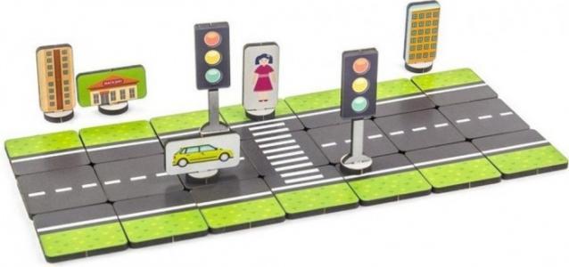 Деревянная игрушка  Правила дорожного движения Базовый набор Woodland